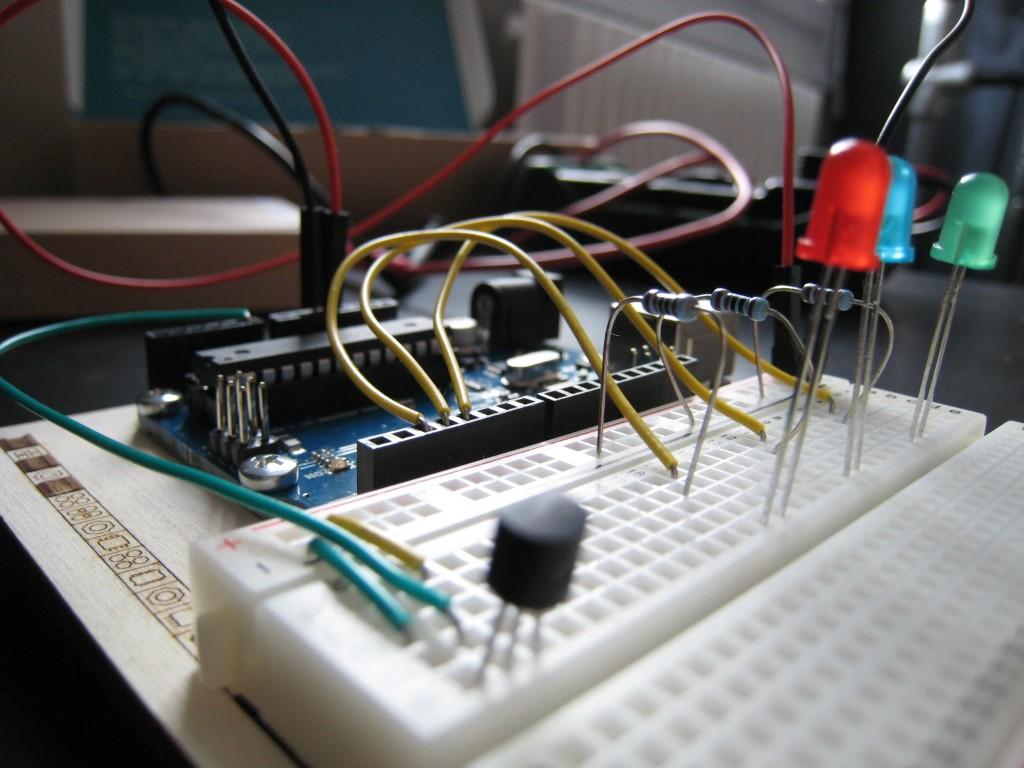 Un montage fait en se basant du guide présent dans le Starter Kit d'Arduino